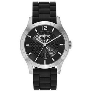 Black Silicone Coach Watch